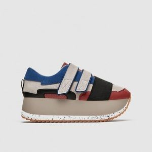 Zara multicolored platform sneakers